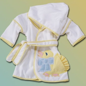 Embroidered Ducky Hooded Robe (Can be Personalized)