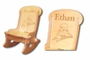 Engraved Child's Rocking Chair With Choo Choo
