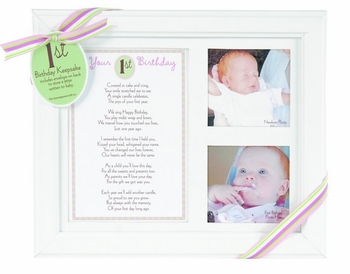 First Birthday Picture Frame Keepsake (Pink or Blue)