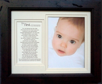 First Great Grandchild Picture Frame