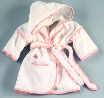 Girls Butterfly Terry Robe