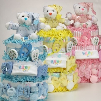Infant Layette Items Cake