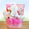 """Jesus Loves Me!"" Baby Girl Basket"