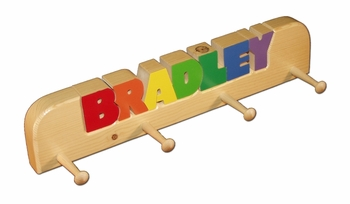 Large Personalized Coat Rack for Children