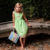 Light Green Girl's  Dresses  (Can be Personalized)
