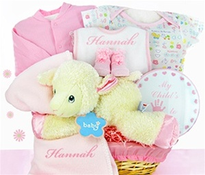Little Lamb Welcome Basket