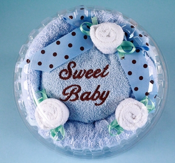 Newborn Boy Hooded Baby Towel Cake