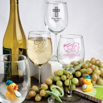 Personalized 12 Ounce Wine Glasses