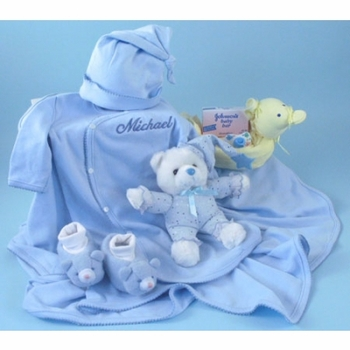 Personalized Baby Boy Bed & Bath Set