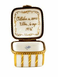 Personalized Baby Boy French Porcelain Heirloom Box
