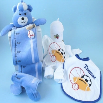 Personalized Baby Boy Growth Chart Set