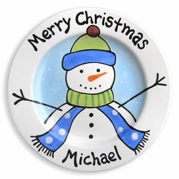 Personalized Baby Christmas Keepsake Plate (6 Different Designs)