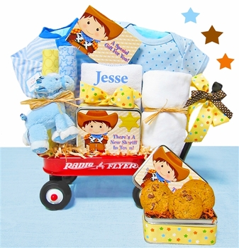 Personalized Baby Cowboy Present