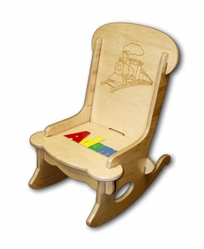 Personalized Baby Rocker With Puzzle Name Amp Train