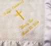 Personalized Christening Or Baptism  Blanket