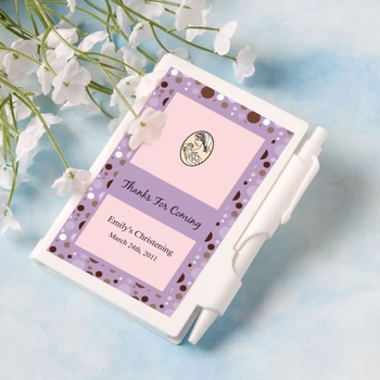 Personalized Christening Or Baptism Notebook Favors