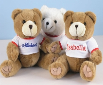 Personalized Cuddly Plush Teddy Bears