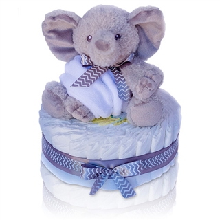 Personalized Elephant Diaper Cake In 2 Sizes