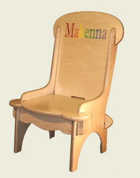 Personalized Engraved Wooden Child's Chair