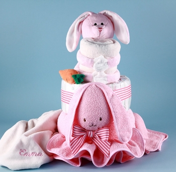 Personalized Floppy Bunny Cake