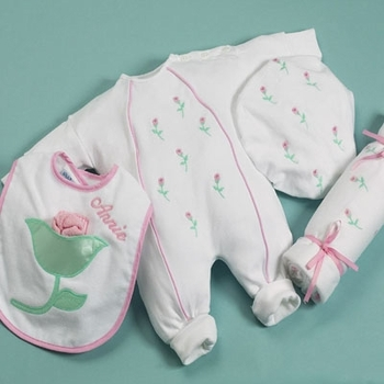 Personalized Flower Girl Layette Set