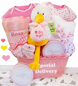 Personalized Gift Basket For Girl Babies