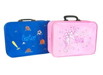 Personalized Hand Painted Childs Luggage Suitcase