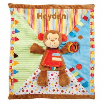 Personalized Monkey Fun Play Blanket
