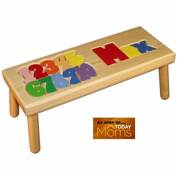 Personalized Name and Numbers Step Stool