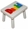 Personalized Painted Name Seat (White or Black)