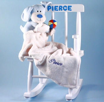 Personalized Rocking Chair Set For Boys