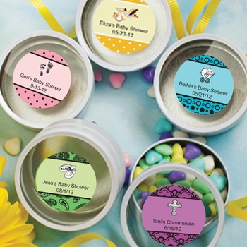 Personalized Round Mint Tins