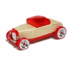 Personalized Wooden Mini Hot Rod Car Set