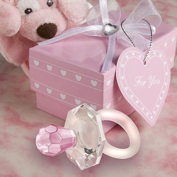 Pink Crystal Pacifiers
