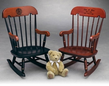 Premium Handcrafted Personalized Child's Rocking Chair