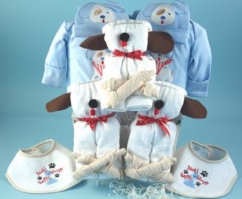 Puppy Themed Ensemble For 2 or 3 Babies