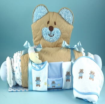 Quilted Bear Floor Pad Ensemble For Boys