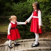 Red Corduroy Christmas Dress (Can Be Personalized)