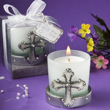 Sacred Cross Candle Party Favors