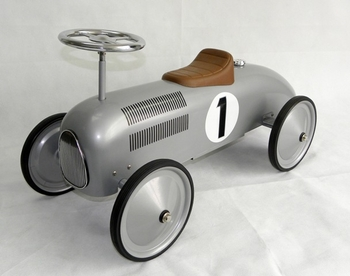 Silver Or Red Steel Scooter Car