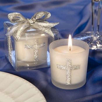 Sparkling Cross Candles