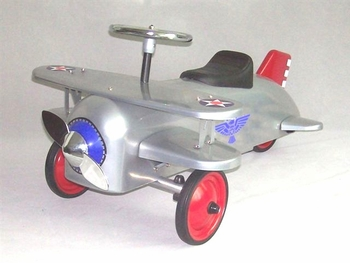 Steel Scooter Ride-On Plane