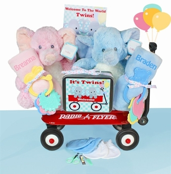 Twin Elephants And Personalized Blankets