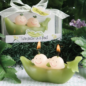 Two Peas In A Pod Candle Favor (Out of Stock)