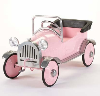 Vintage All Steel Pink Pedal Car (Out of Stock)