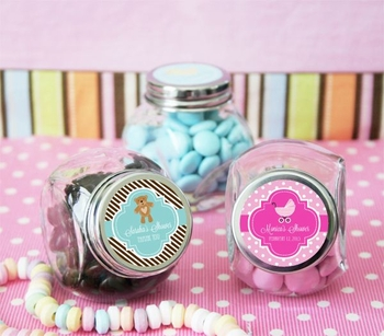 Vintage Mini-Candy Jars With Custom Labels