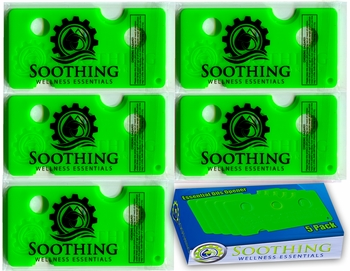 Soothing Wellness Essentials 5 PACK Essential Oils Opener Key Tool Set (BASIL GREEN)