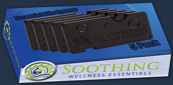 Soothing Wellness Essentials 5 PACK Essential Oils Opener Key Tool Set (JET BLACK)