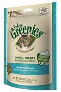 Feline Greenies Dental Treats, Ocean Fish Flavor, 2.5 oz (10 Pack)