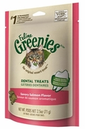 Feline Greenies Dental Treats - Savory Salmon Flavor, 2.5 oz (10 Pack)